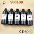 Fast shipping! 6*500ml UV LED ink for Epson R1800 R1900 R2000 R3000 UV LED ink for glass/ metal/ wood, B/C/M/Y/White