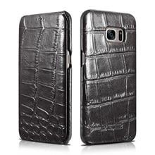 Для galaxy s7 g9300 s7 edge кожаный телефон случаях icarer крокодил из натуральной кожи flip case для samsung galaxy s7 edge G9350