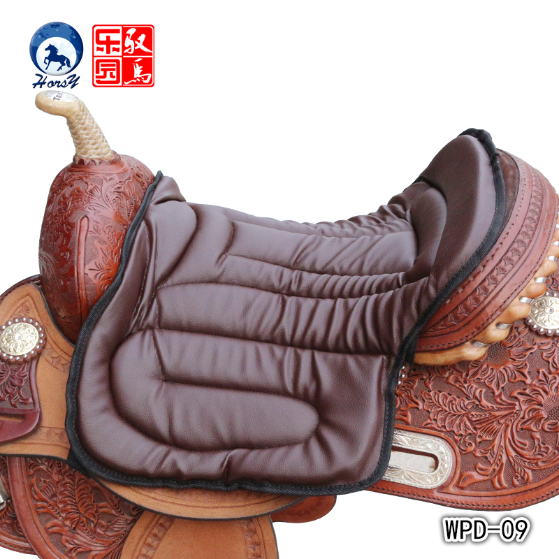 Black Horse Riding Saddle Pad Soft Equestrian Seat Pad Horse Riding Equipment Pu material discount price 1