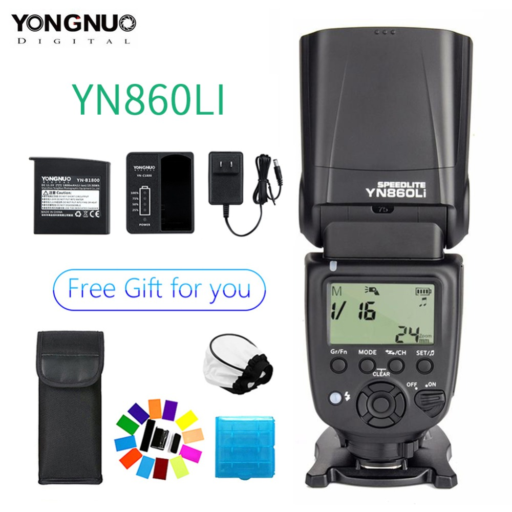 Yongnuo YN860Li 1800mAh Lithium YN860Li Kit Speedlite Wireless Camera Falsh Light For Nikon D5300 D7100 D7200