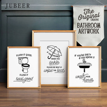 Flush Toilet Poster Funny Bathroom Art Wall Decor Lavatory Decoration Picture Lav Posters and Prints Minimalistic