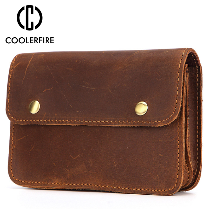 Fashion Men Business Casual Long Wallets  High Quality Clutch Bag Large Capacity Waist Pack Genuine Leather Wallet For Men PJ057