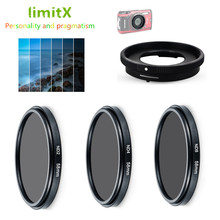 Filter set ND Neutral Density ND2 ND4 ND8 & Adapter Ring voor Olympus TG 6 TG 5 TG 4 TG 3 TG 2 TG 1 TG5 TG4 TG3 TG2 TG1