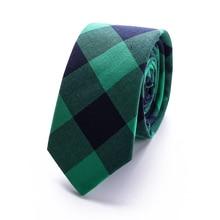 купить Slim Narrow necktie fashion brand tie 6 cm cotton Skinny group company tie fit for business wedding party gavata corbatas T48-20 дешево