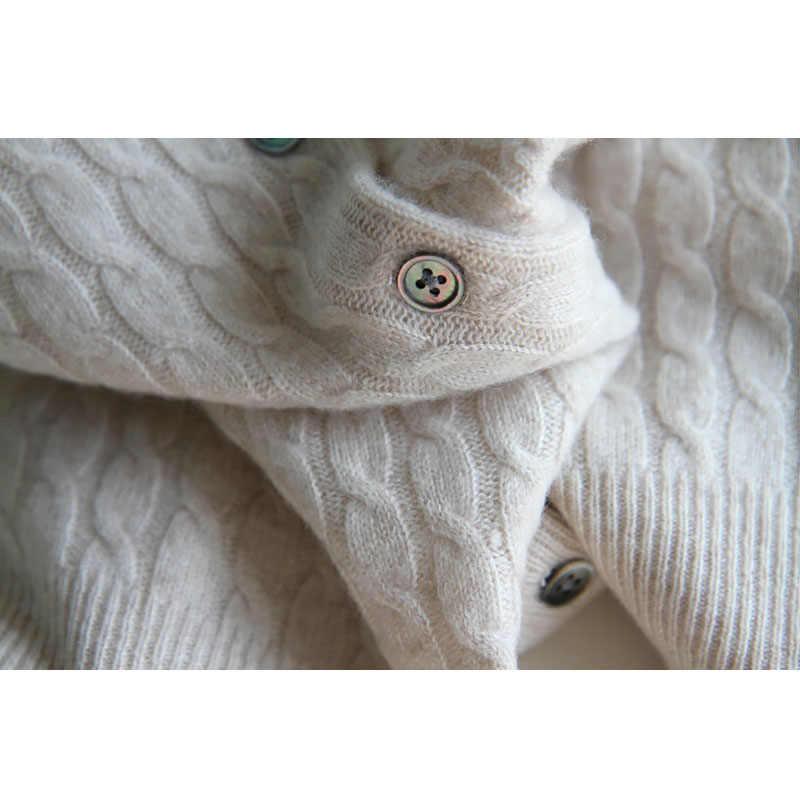 Новинка 2018, Женский кашемировый свитер, шерстяной кардиган с круглым вырезом, осенне-зимний свитер, кардиган, свитер, пальто для женщин