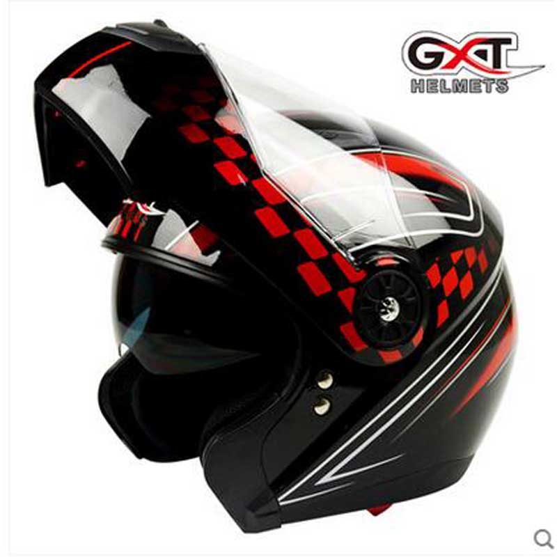GXT black red Flip Up Motorcycle Helmet, Motocross Moto Racing knight Motorbike biker  helmets , Colors