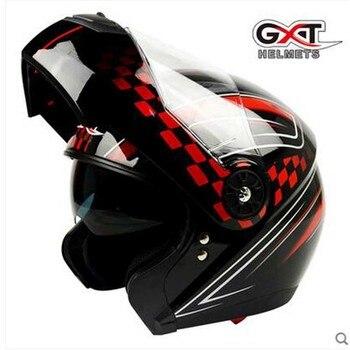 GXT black red Flip Up Motorcycle Helmet, Motocross Moto Racing knight Motorbike biker  helmets , Colors