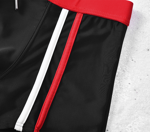 Sexy Men Swimwear Swimsuits Short Bain Homme Black Swimwear Man Bikini Swim Boxers Nylon Swim Trunks Gay Swim Shorts M-XXL Size