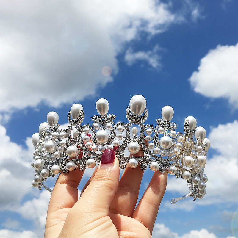 ASNORA Gorgeous Princess Crowns Wedding Tiaras Bridal Hair Accessories Zircon Crystals Pearls Hair Jewelry tiara de noivaASNORA Gorgeous Princess Crowns Wedding Tiaras Bridal Hair Accessories Zircon Crystals Pearls Hair Jewelry tiara de noiva