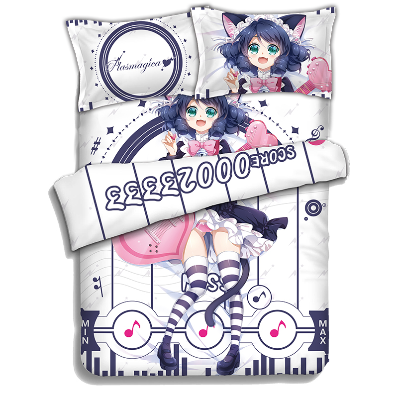 Japanese Anime SHOW BY ROCK!! Bedding Sheet Bedding Sets Bedcover Pillow Case 4PCS
