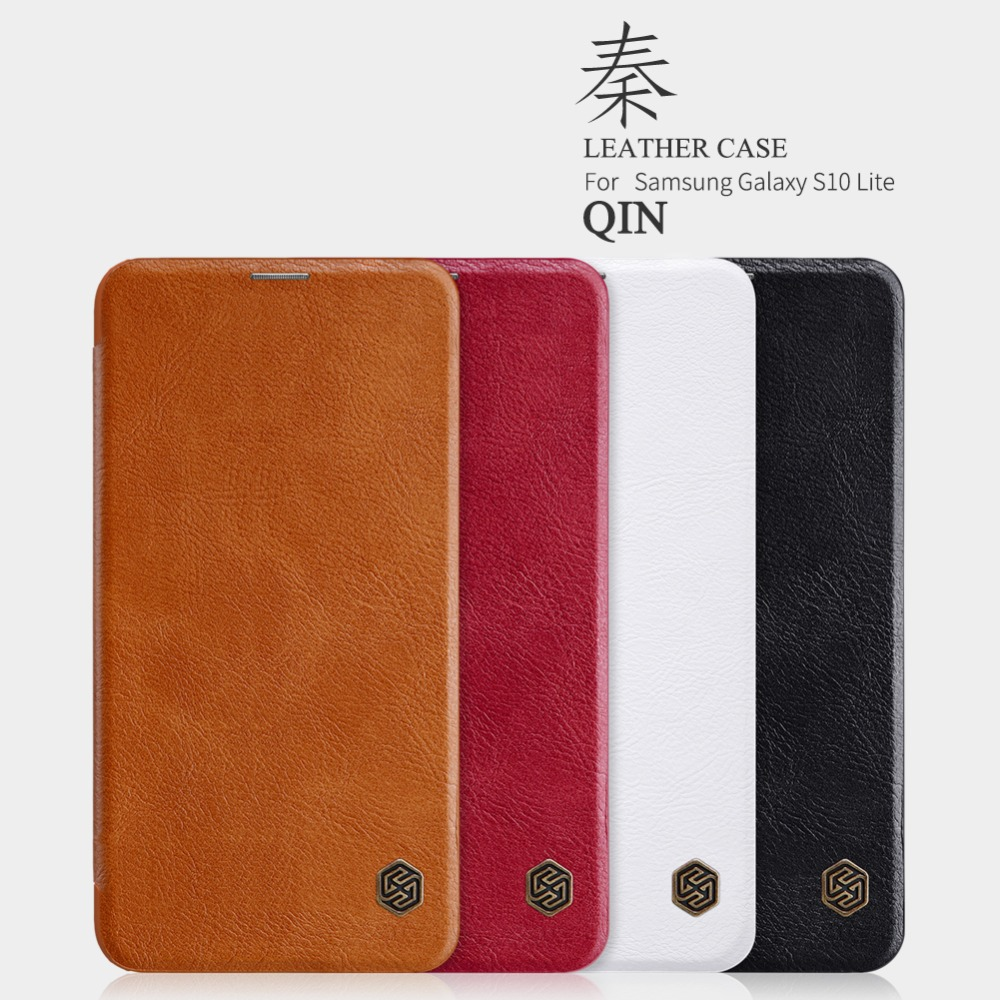 10pcs lot Wholesale NILLKIN Qin Series Wallet Flip Leather Case For Samsung Galaxy S10 Lite S10e