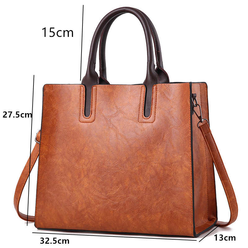 Simple Fashion Square Tote Handbags Luxury Brand Designer Leather Causal Work Bags For Women 2019 Large Messenger Per