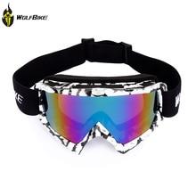 WOLFBIKE Cycling Glasses Motorbike Racing Goggles Dustproof Cycling Motocross Outdoor Goggles Motorcycle Eyewear Glasses