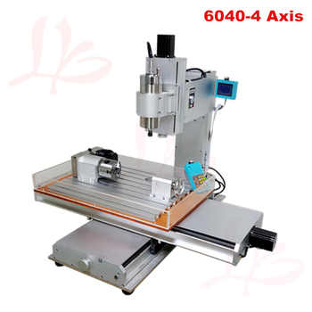 1500W spindle cnc router 6040 4 axis cnc milling machine for metal wood stone sculpture with water sink 4 axis cnc 6040 z s80 engraver router milling lathe machine with rotary axis and 1 5kw spindle four axis cnc6040 for 3d cnc