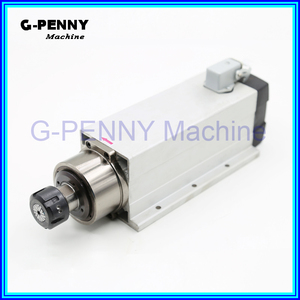 Image 2 - New Product  220V/380v 4.0KW CNC Air Cooled Spindle  ER25 Air Cooling motor spindle 4 bearings square spindle motor for CNC