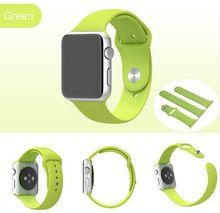 Original 1:1 moda correas de reloj de silicona para apple watch correa de gel de sílice edición deportiva 38mm 42mm deporte