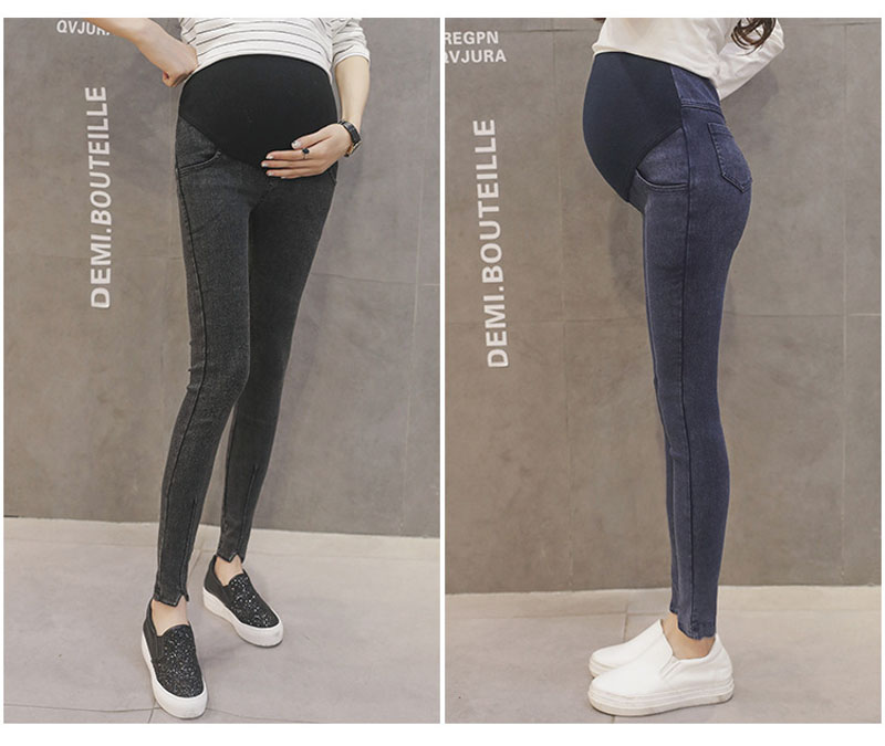 b5ff0b7ef0ce2d Trousers For Pregnant Women Clothes Elastic Waist Maternity Pants Abdominal  Pregnancy Jeans Strench Leggings Clothing Maternidade