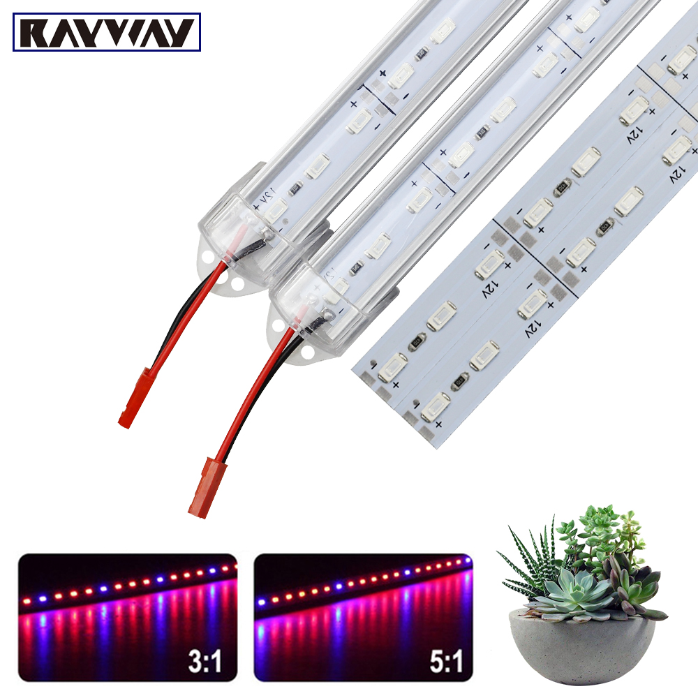 RYWAY Full Spectrum LED Grow Light SMD5730 DC12V Led Bar Rigid Growth Strip For Greenhouse Hydroponic Potted Plants Seeding