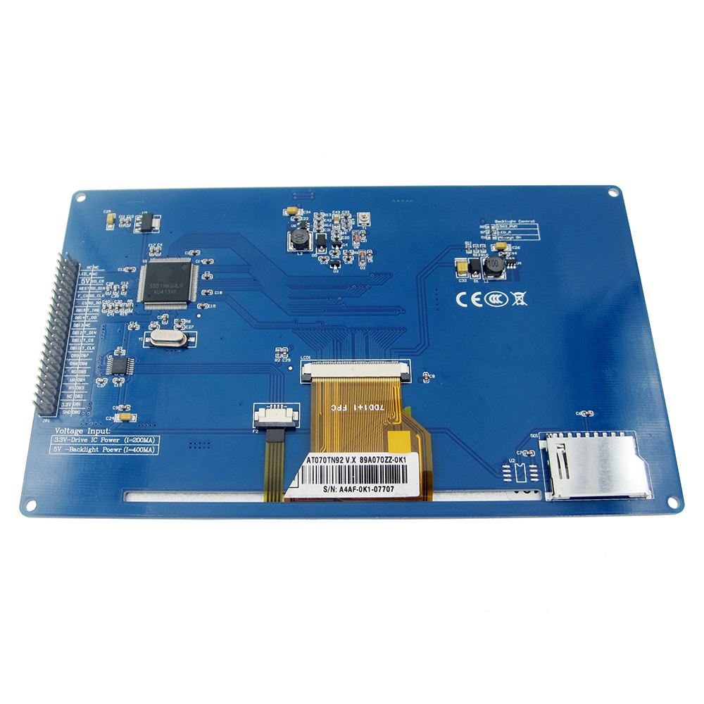 """7"""" 7.0"""" Inch TFT LCD Display 800x480 SSD1963 Touch Panel Screen PWM LED Backlight Controller Module For 51/AVR/STM32 2"""