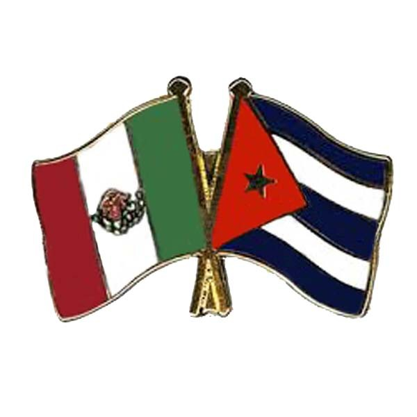 Mexico & Cuba Friendship Flag Pin Made of Iron Various Colors are Available Factory Supply with Low Price MOQ50pcs Free Shipping