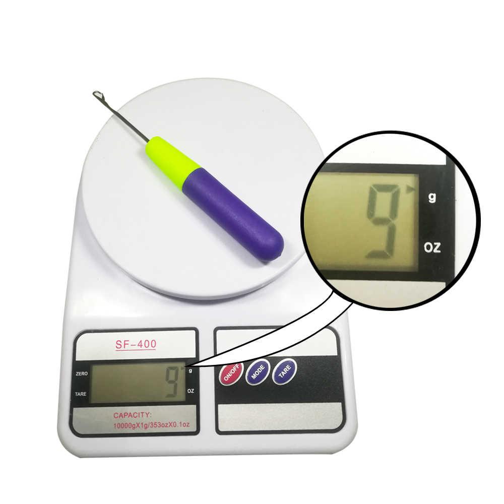 1 шт./лот, пластиковый крючок для оплетки, игла, фиолетовая ручка для переплетения, плетение волос, дредлок, инструмент для наращивания волос