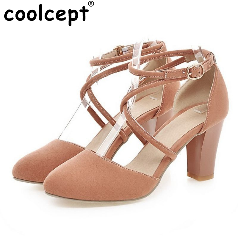 women sexy patchwork heel sandals fashion pointed toe stiletto ladies cross strap party footwear heeled shoes size 34-39 PB00038 ladies real leather pumps shoes women pointed toe cross strap gladiator shoes fiork nude color sexy female footwear size 34 40