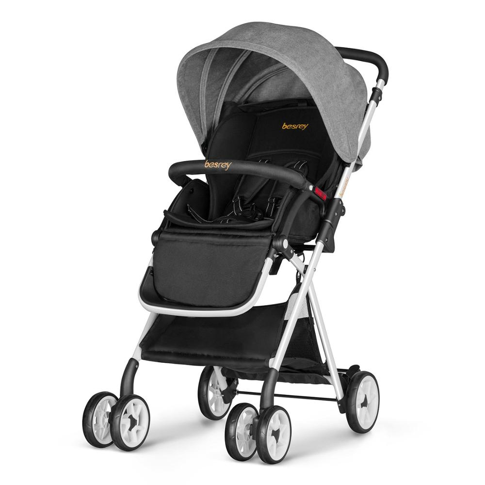 Newborn Baby Buggy Reviews Us 71 99 Besrey Newborn Baby Kids Stroller Infant Buggy Baby Pushchair Foldable Pram Rain Cover Children Carriage Toddler Pram In Four Wheels