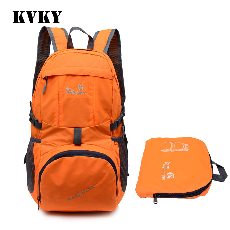 Fantasy sky fashion nylon unisex foldable <font><b>backpack</b></font> casual patchwork portable light vogue Ultralight package girl fold travel bag