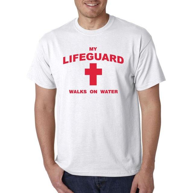 a49f2d91adc My Lifeguard Walks on Water T-Shirt - Christian Catholic Religious Tee  Jesus God 3D
