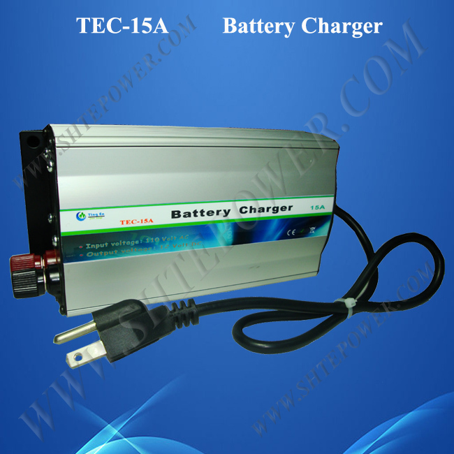 15A Deep Cycle Battery Charger, AC to DC 12V Car Charger 220V/230V/240V Input