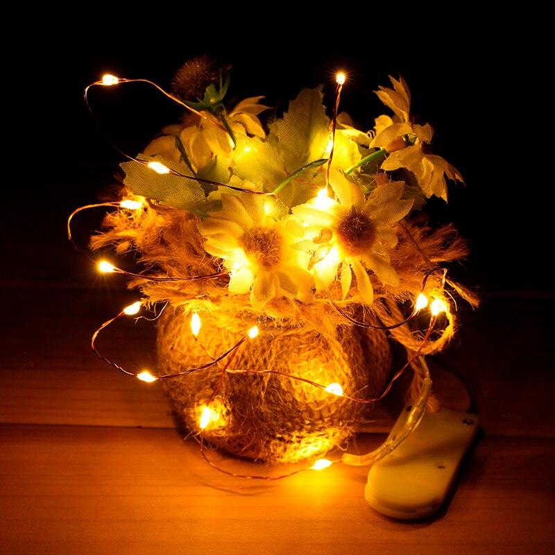 100/200/500/1000 pièces en gros 2 m 20 LED s fil de cuivre LED chaîne étoilée lumière lampe décorative pour artisanat en verre fée fête de mariage - 5