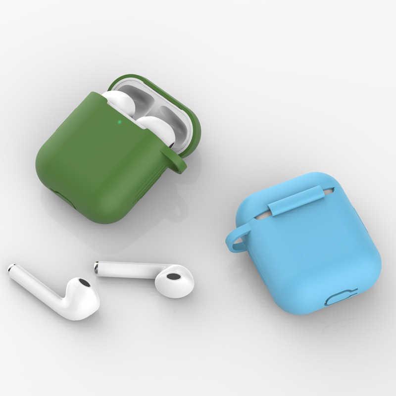 Silicone Bluetooth Tai Nghe Không Dây Dành Cho Tai Nghe Airpods Bảo Vệ Phụ Kiện Rung Sạc Hộp Cho Airpods1 2