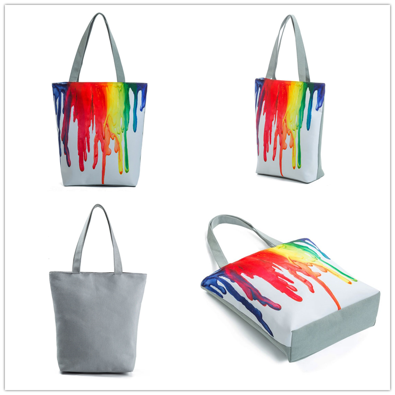Miyahouse Harajuku Style Colorful Painting Shoulder Bag Women Large Capacity Shopping Bag Female Casual Tote Handbag 1