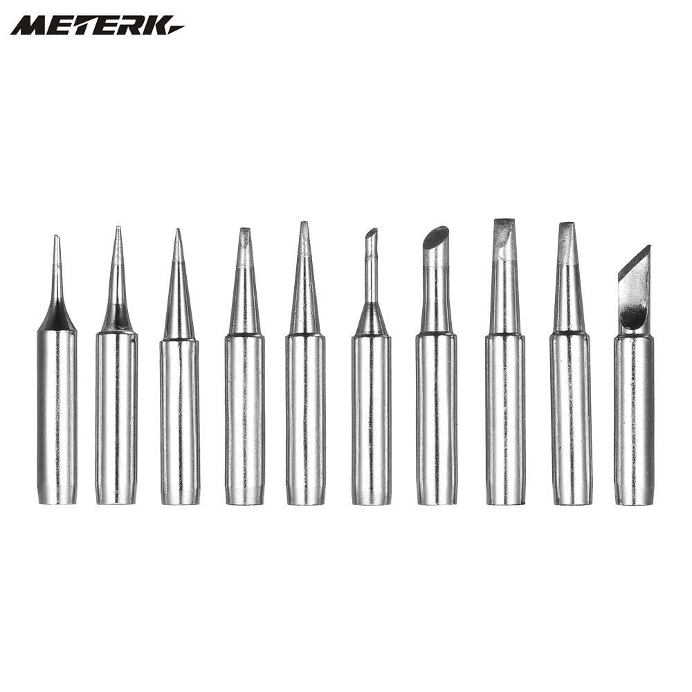 Meterk 10PCS Soldering Iron Tips Solder Tip Lead-free Screwdriver Iron Tip 900M-T-B Soldering Rework Station Tool Kit цена