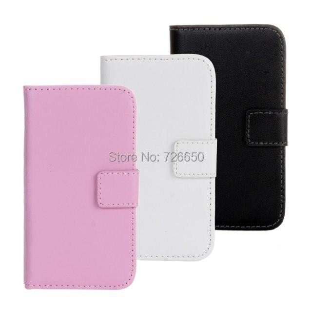 fdb3415c785 Funda de cuero genuino estilo cartera para iPhone 4 4S con soportes de  coche + Protector de pantalla gratuito