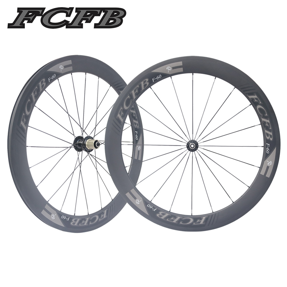 2017 new FCFB Road Bike Carbon Wheels Fastace RA209 Hubs 700C 60mm depth Clincher 3K matt Carbon Bicycle Wheelset FREE SHIPPIN