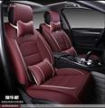 Para BMW e36 e39 e46 e90 e60 x5 e53 f30 rojo negro a prueba de agua cubierta de asiento de coche de cuero suave de la pu marca delantero y trasero fundas de asiento completo