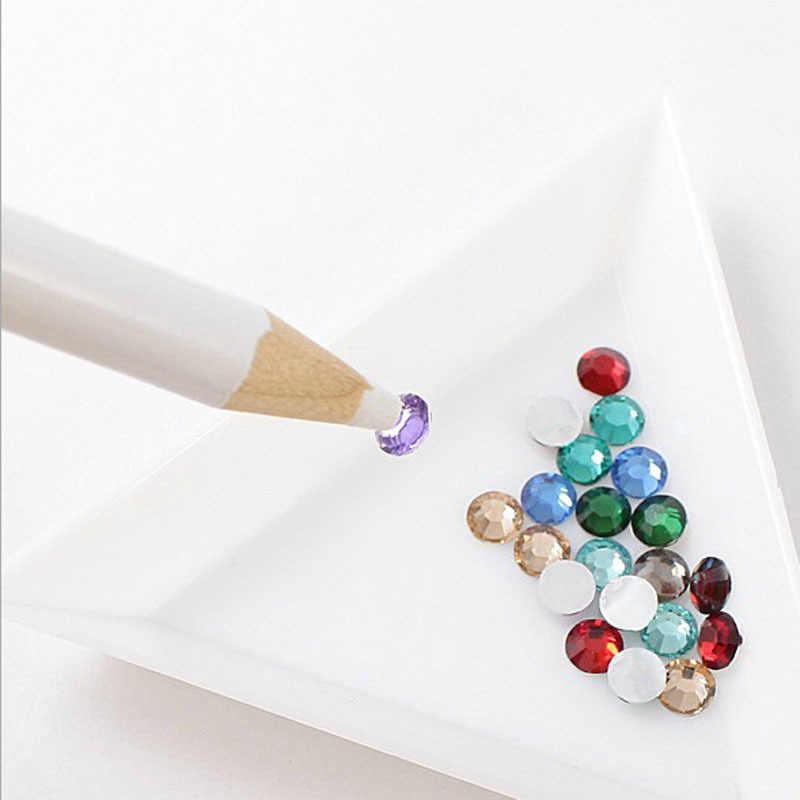 10 sztuk okrągły dżetów paznokci koraliki kryształy na paznokcie Art sortowanie tace na kamienie ozdoby do paznokci akcesoria do paznokci ozdoby
