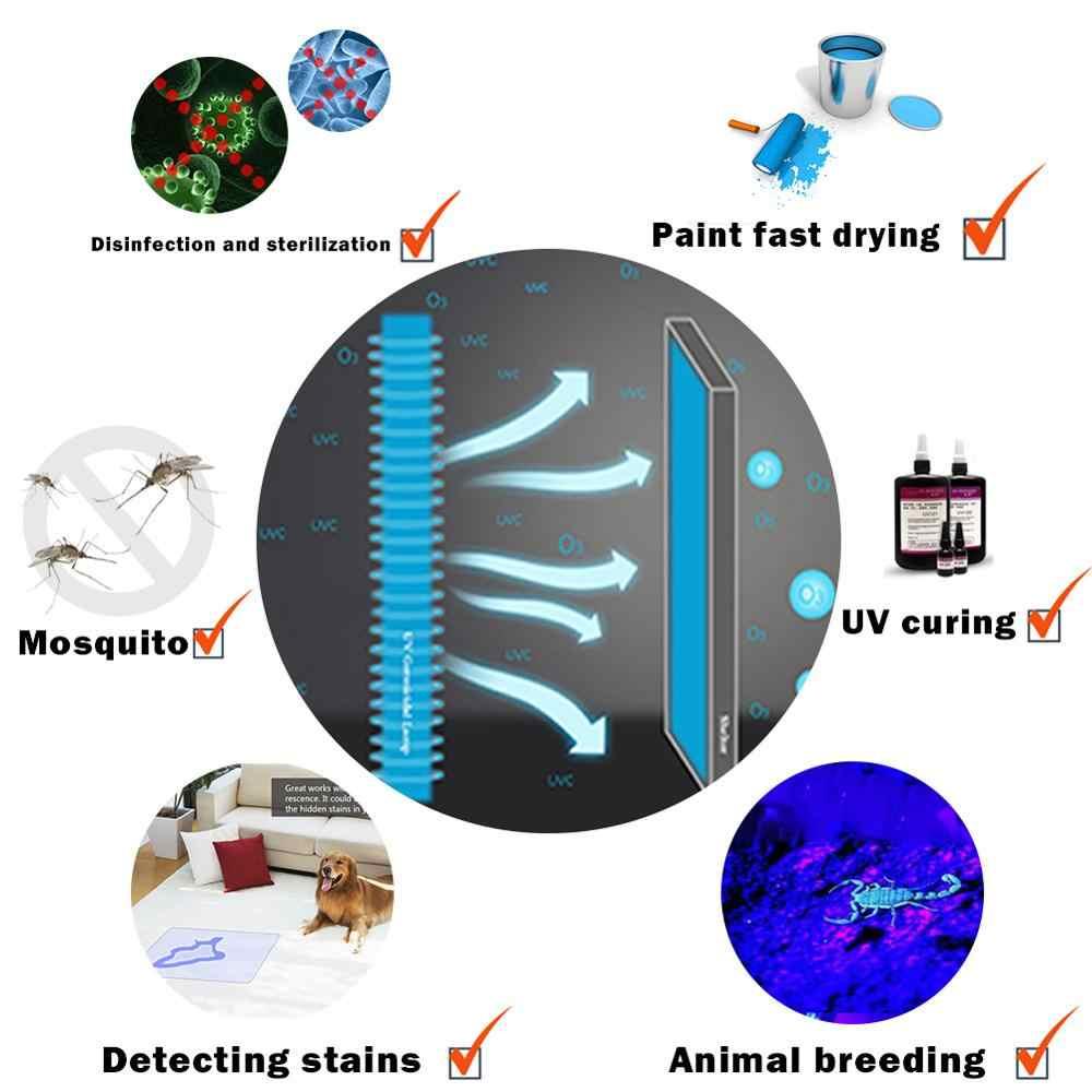 365nm Led УФ для сушки гель-лака лампа чернила для принтера краска шелкография версия ультрафиолетового лечения металлическое стекло черный свет