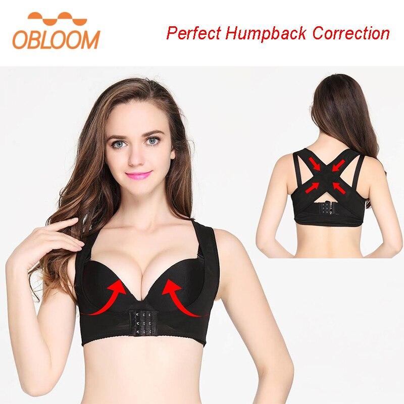 Humpback Women Back Posture Corrector Shoulder Support Correction Belt Shaper Back Corset Bra X Strap Vest Brace Push Up Sagging