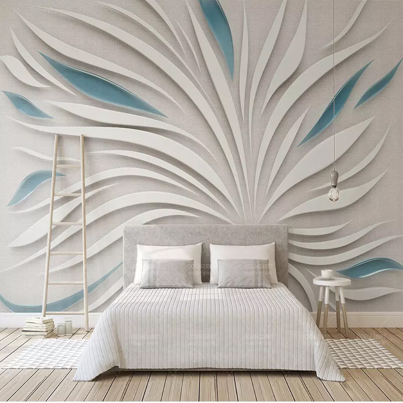 Large Mural Living Room Bedroom Wall Papers 3D Stereoscopic Embossed Flower Art Wall Oil Painting Custom Photo Wallpaper Rolls