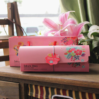 30sets Fresh color green Swiss Roll&Pink cake roll packing box,Provide Free Gift bag&Cake paper holder&Packaging box decoration