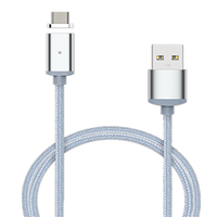 Nylon Magnetic Micro USB Adapter For Lightning Sync For Type-C Data Cable Fast Charging Both For iphone Android Type-C