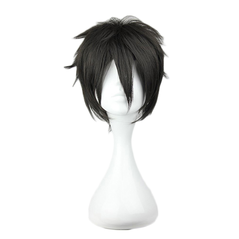 Anime Sword Art Online Kirigaya Kazuto Wig Cosplay Costume SAO Kirito Men Hair Halloween Party Wigs