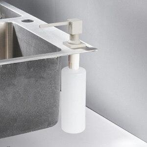 Image 4 - Диспенсер для кухонного мыла, квадратный дозатор для мыла, хромированный дозатор для кухни, встроенный диспенсер 2306