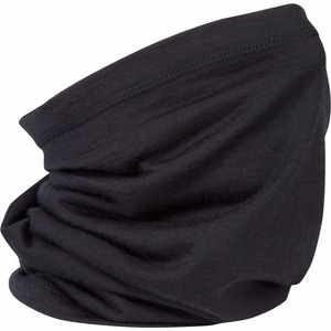 Image 3 - Écharpe de guêtre en laine mérinos noire