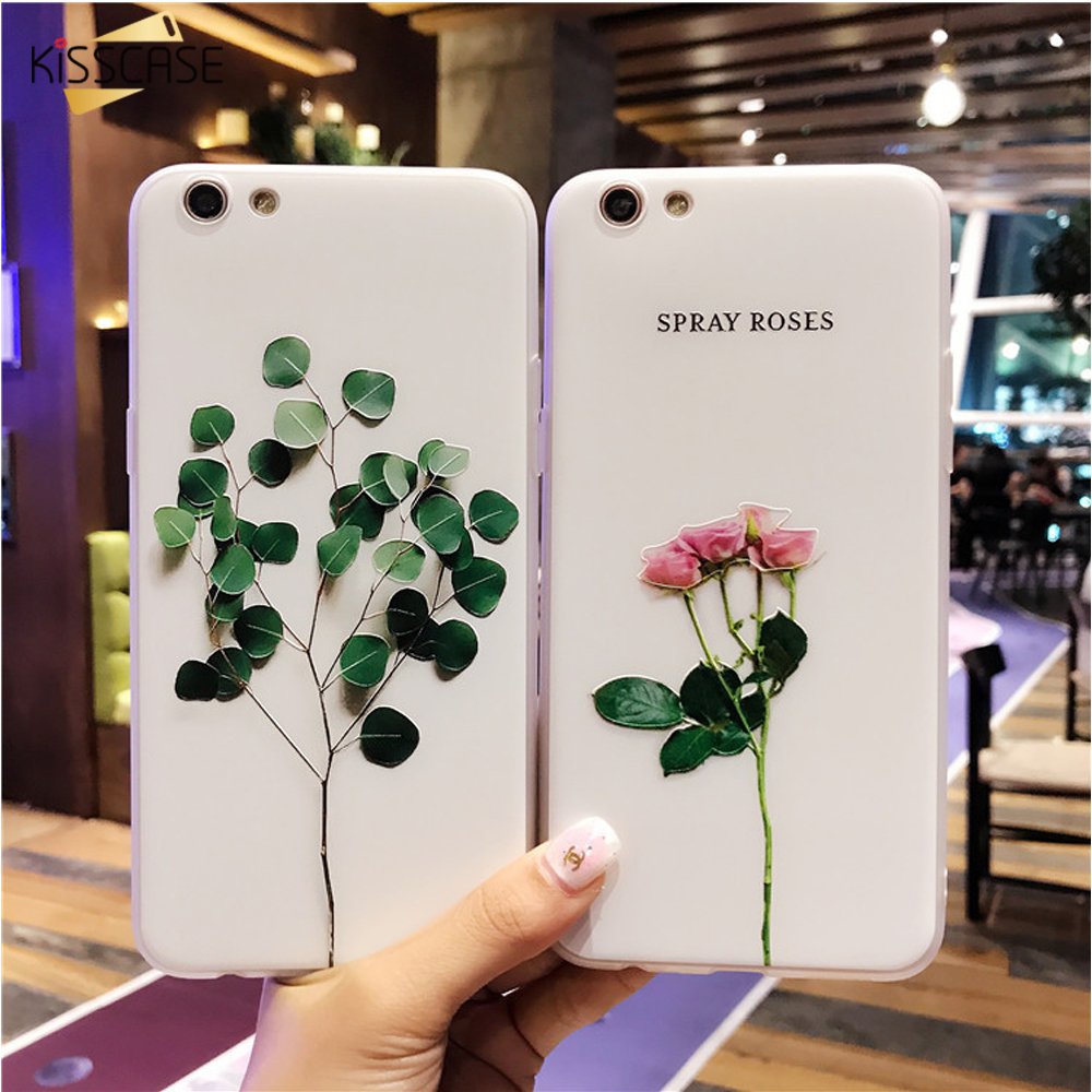 competitive price 6df56 fa73b 3D Iphone SE 5S 5 Case Relief Leaf Cute Plants Leaves Flower Phone Cases  For Iphone X 6 S 7 8 Plus Accessories