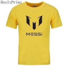 HooltPrinc 2017 summer brand 100% cotton Barcelona MESSI Men t-shirt tops Man casual short sleeve t shirts