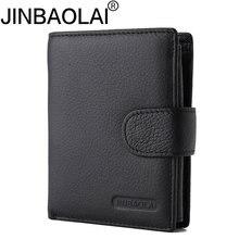 Модный мужской бумажник из натуральной кожи кошелек с карманом