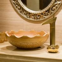 Household sink bathroom washbasin ceramic basin modern minimalist square above counter basin oval LO620522